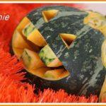 日本のかぼちゃでハロウィーン
