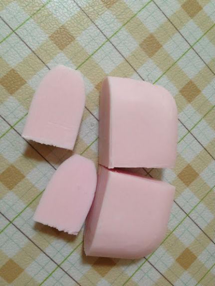 ピンクの石鹸