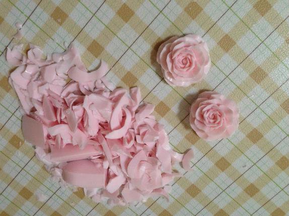 薔薇を彫ります