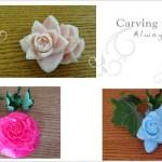 「くるりん薔薇」をわかり易く彫る