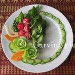 4月イベント、ラディシュ&蕪 野菜の飾り切り