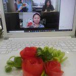 トマトと小葱の飾り切り