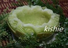 カービング☆☆ 生活に彩りを-メロンお皿