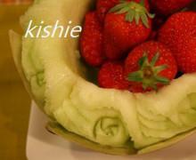 カービング☆☆ 生活に彩りを-メロンとイチゴ